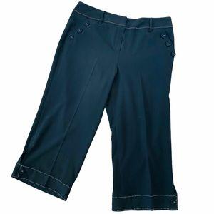 Patchington Black Capri Dress Pants Sz 16